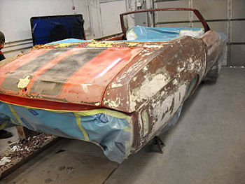 Stripping 1970 Chevelle 396 Convertible